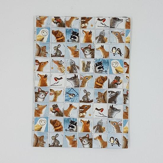 Plunket Well Child Cover Fabric NZ Hemmingbird Woodland Blocks
