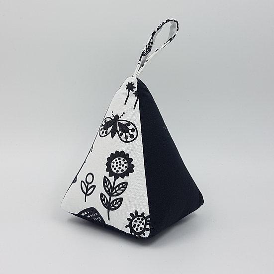 Doorstop Fabric NZ Hemmingbird Black and White Floral