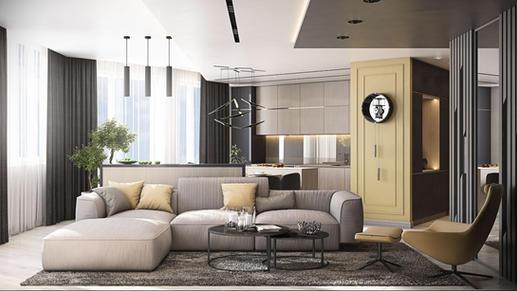Moldingurile de pe pereți conferă eleganță și caracter apartamentului.