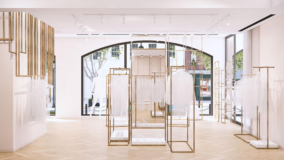 Woman's clothing store FCODE designed by MUSA Studio