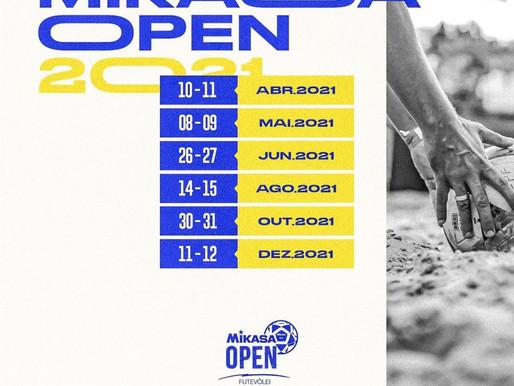 Calendário de Futevôlei 2021 ATUALIZADO - Mikasa Open