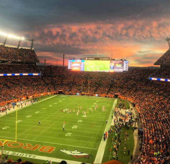 Sunset over Mile High