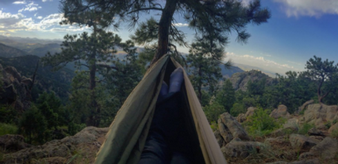 Hanging in a Hammock after a Hike