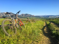 Flatirons over Boulder Bike Trail