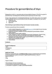 BXP blanket til anmeldelse af tilsyn 070