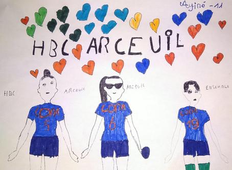Jeunes talents du HBC Arcueil - Les premiers dessins sont arrivés !
