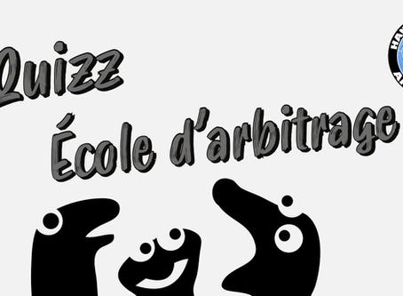 QUIZZ - École d'arbitrage - RÉPONSES