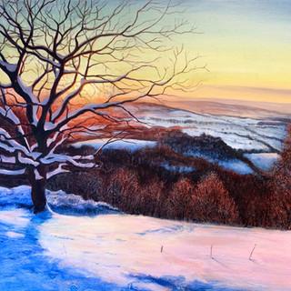 December Snow Malvern Hills