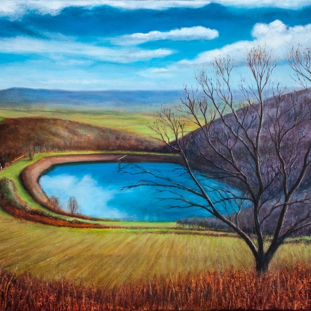 Blue Winter Sky, British Camp Reservoir