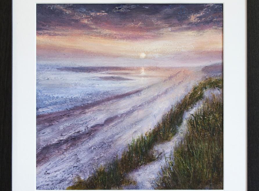 Pink Sunrise, North Norfolk framed.jpg