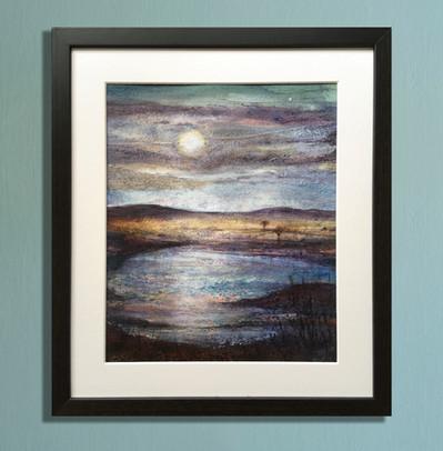 moonlight on water framed