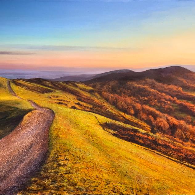November sunset, malvern Hills