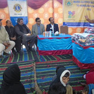 Warm clothes & blankets distribution