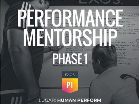Abiertas inscripciones para Performance Mentorship 1 - Exos