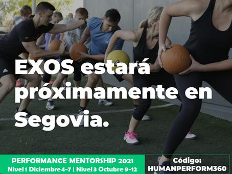Abiertas inscripciones de 2021 para Exos Performance Mentorship  1 y 3 en Human Perform - Segovia