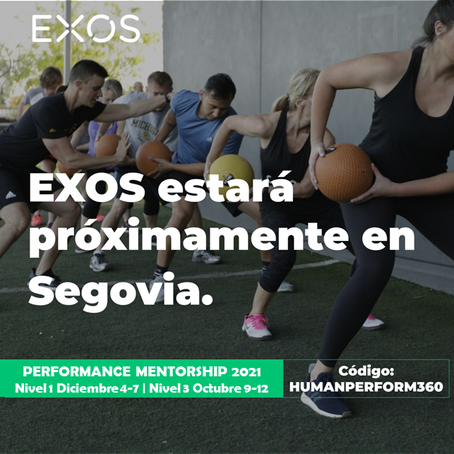 Abiertas inscripciones de 2021 para Exos Performance Mentorship  1 y 3 en Human Perform - Segovia