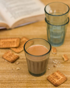 Tea with Parle G