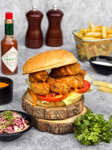 Prawns Zinger Burger