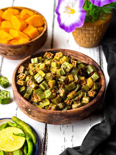 Bhindi Fry or Stir fried Okra