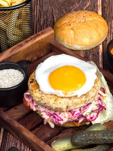 Chef's Special Chicken Burger (Open Burger)