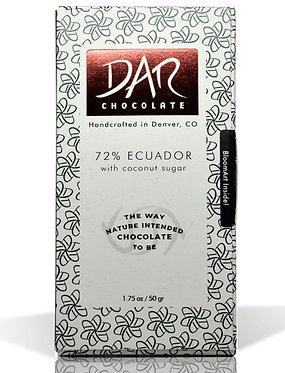 Ecuador w/Coconut Sugar -  72% cacao