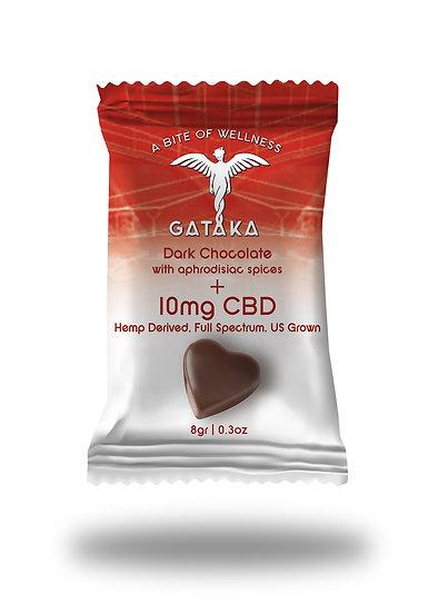 Chocolate Heart with cayenne and cinnamon / 10mg CBD