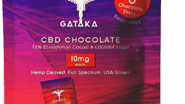 6 Dark Chocolate Discs