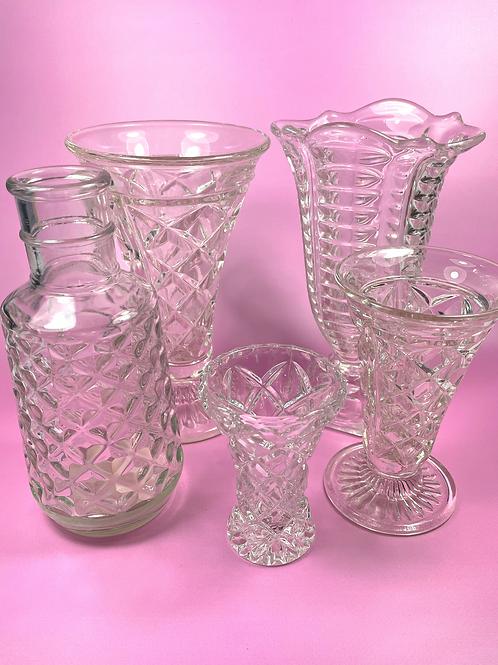 Assorted vintage vases