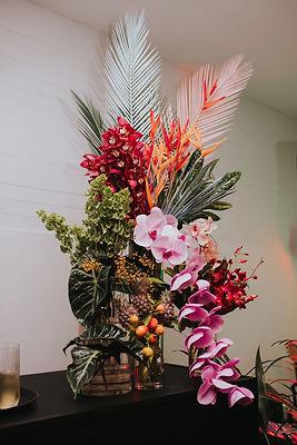 bright tropical bar flowers