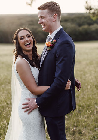 Couple embracing and laughing