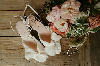 loeffler randall shoes and bouquet