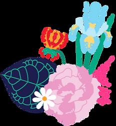 clarinervium gloriosa iris carnation daisy fern