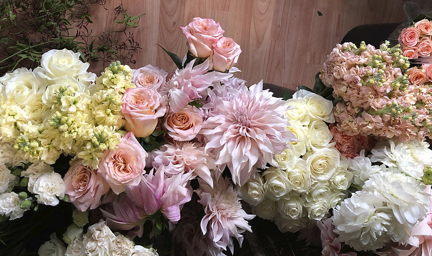 dahlia roses stock jasmine blooms beautiful