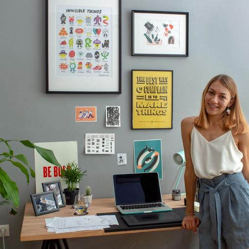 Radostina Georgieva, a Bulgarian illustrator, graphic designer, and jewelry maker.
