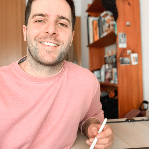 Think, sketch, and color. Meet Cristian, a Spanish illustrator.