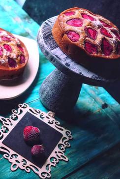 Fresh Strawberry Tea cake