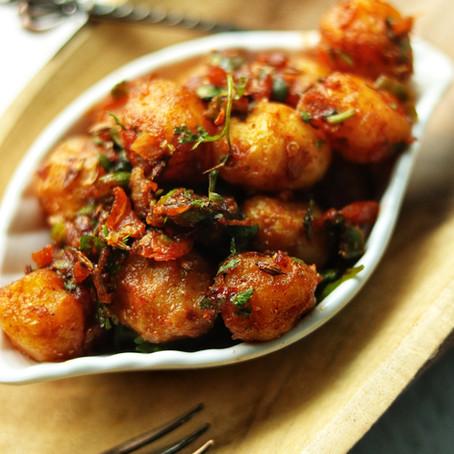 Gunpowder Baby Potatoes - dry fry