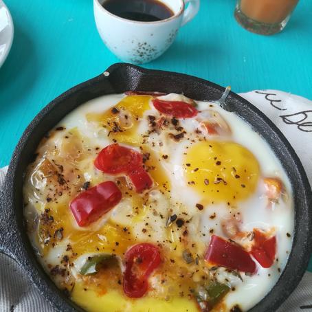 Egg Shakshuka - Indian style