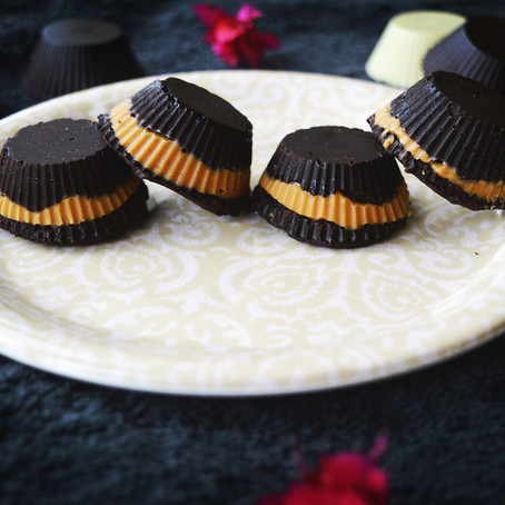 Dark Chocolate & Peanut butter fudges