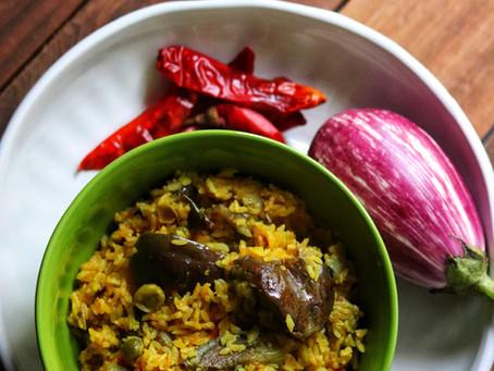 Vangi Bath - with homemade masala