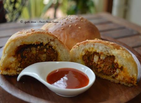Stuffed Homemade Buns with Licious Shikampuri Kebabs