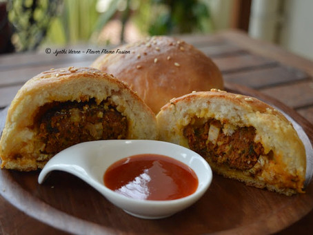 Stuffed Homemade Buns with Licious Shikampuri Kebabs