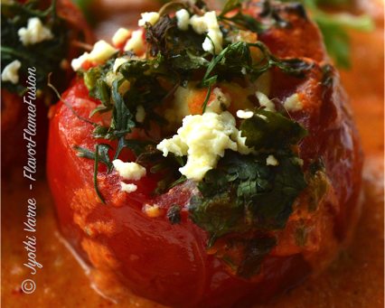Bharwan Tamatar -Stuffed Tomatoes in a rich gravy