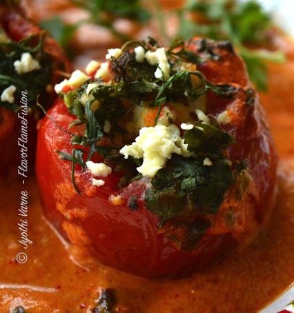 Bharwan Tamatar -Stuffed Tomatoes in a rich gravy