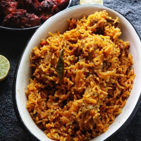 Chicken Biryani - Pressure Cooker Recipe