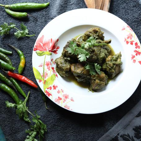 Chicken Chops in spicy green masala