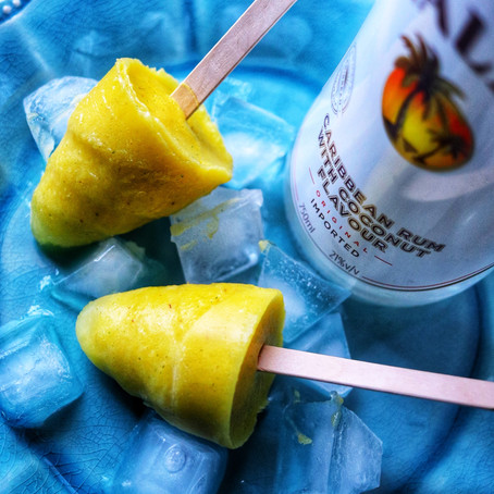 Fresh Pineapple Popsicles