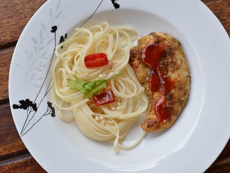 Lemongrass Chicken with Spaghetti