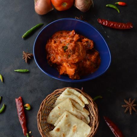 Murgh Theeka Pyaaz -Chicken cooked in Onion Gravy