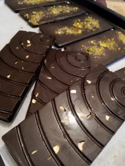 Dry fruit chocolate bars